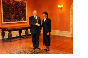 The Aga Khan, pictured with Canada's Governor General in 2008, is Bilaal's inspiration. Photograph: John MacDonald, Ottawa