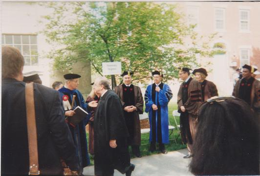 A very happy moment in my life when I visited Brown University in 1996. I snapped this picture of His Highness the Aga Khan and only realized that he was looking straight at my camera after I got the film processed.  Photo by Abdulmalik Merchant
