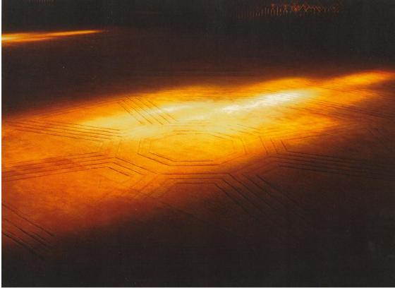Note the geometrical patterns on the carpet. Photo: Bruno Freschi Collection, 1985