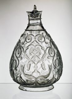 Fatimid Rock Crystal Ewer, shown above and here as seen from the front, is regarded as the most valuable object in Islamic Art