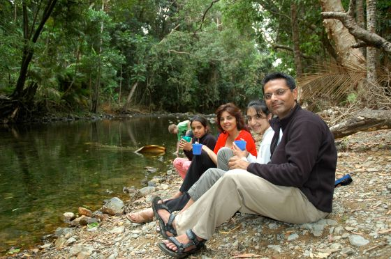 A tranquil moment for the Babul family