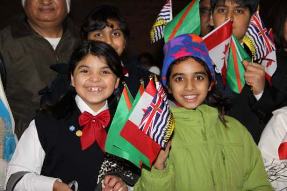 The joy of the Golden Jubilee of His Highness the Aga Khan was felt by millions of Ismailis all over the world, including Shazia'Ayn, right, and her friend.