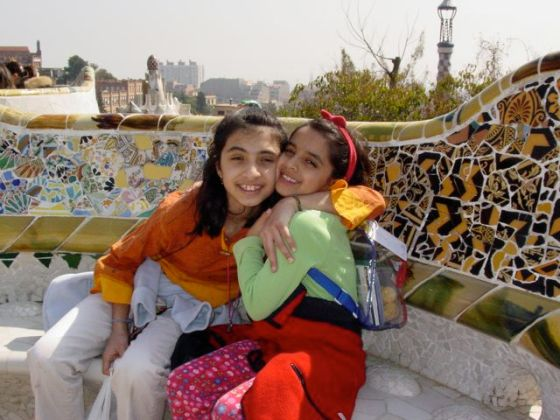 Aliya-Nur and Shazia'Ayn in Barcelona
