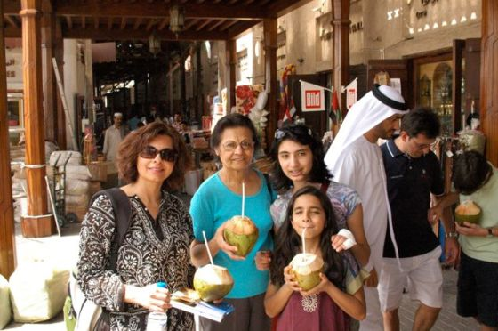 "Enjoying ""madaf"" in Dubai Souk"