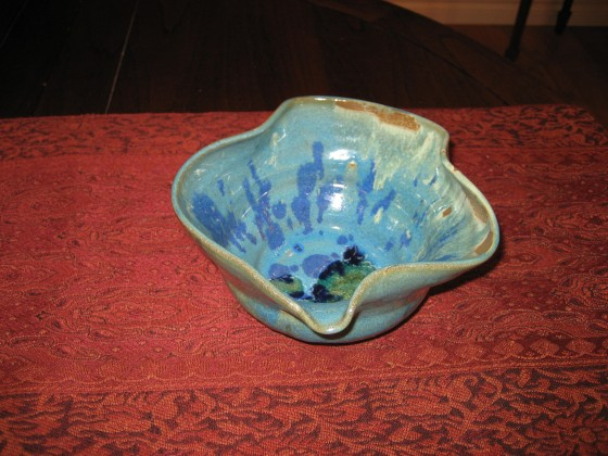Funky Blue Bowl