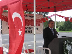 Turkish Ambassador, His Excellency Rafet Akgunay, speaking at the ceremony