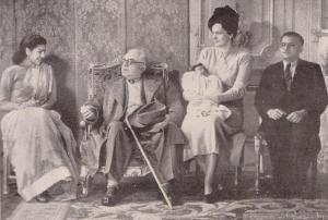 Aga Khan III and Begum with South African family visiting Paris