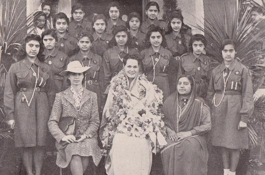 Begum Aga Khan with Girl Guides