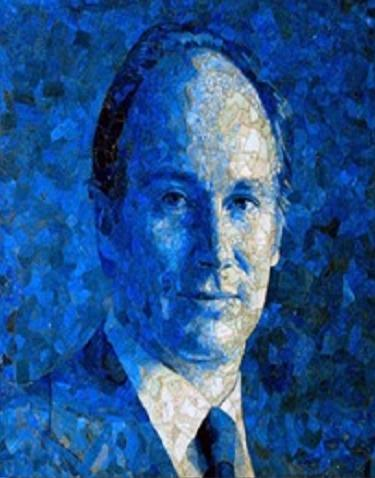 A mosaic of His Highness Prince Karim Aga Khan, 49th Imam of Shia Imami Ismaili Muslims, by the late Pakistani artist Gulgee