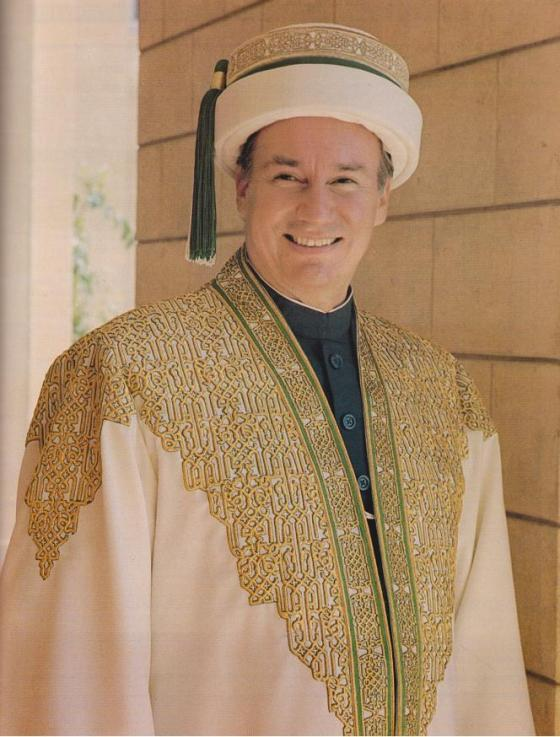 Aga Khan IV Portrait Chancellor Robe 1989