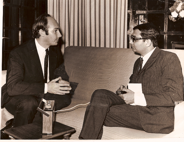 The Aga Khan being interviewed by Mansoor Ladha, one of the few Ismaili journalists who has had the privilege to interview the Aga Khan.