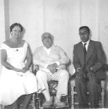 Dr. Rajput at Yakimour, with Mawlana Sultan Mahomed Shah and Mata Salamat