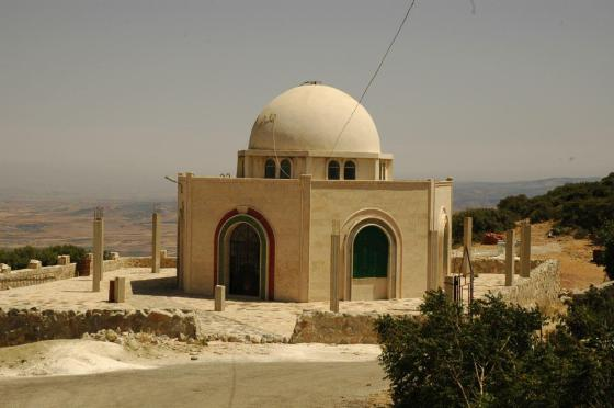 Jabal Mashhad in Salamiyya, Syria, is thought to hold the tomb of the 8th Ismaili Imam Wafi Ahmed. Photo: Arif Babul, Vancouver. Copyright. Please click for enlargement. Photo: Professor Arif Babul. Copyright.