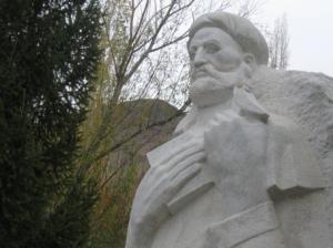 A statue of the famous Ismaili dai Nasir Khusraw in Badakhshan.