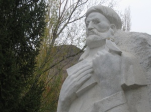 A statue of the famous Ismaili dai Nasir Khusraw in Badakhshan.