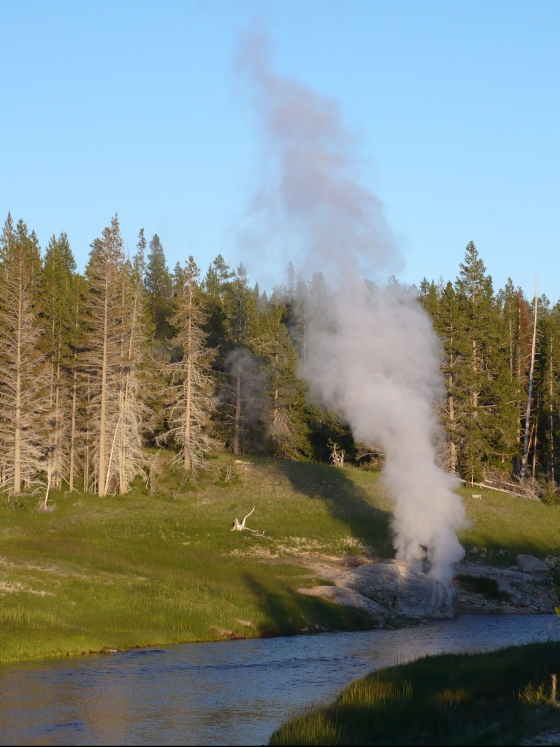 Riverside Geyser Yellowstone
