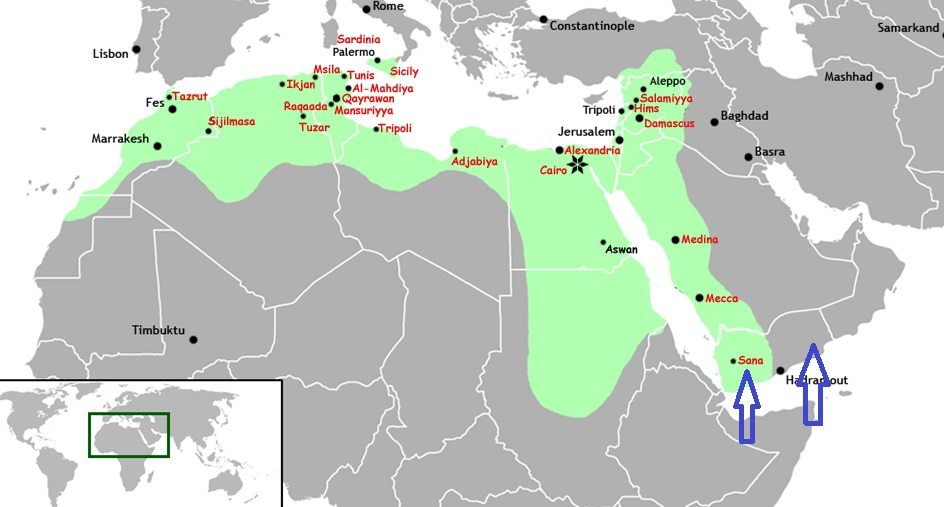 Ismaili propagation in the indo pak subcontinent before the advent shaded in green the fatimid caliphate at its height yaman yemen is gumiabroncs Gallery