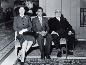 Mr. Akber Premji seated next to Mawlana Sultan Mahomed Shah and Begum Aga Khan.