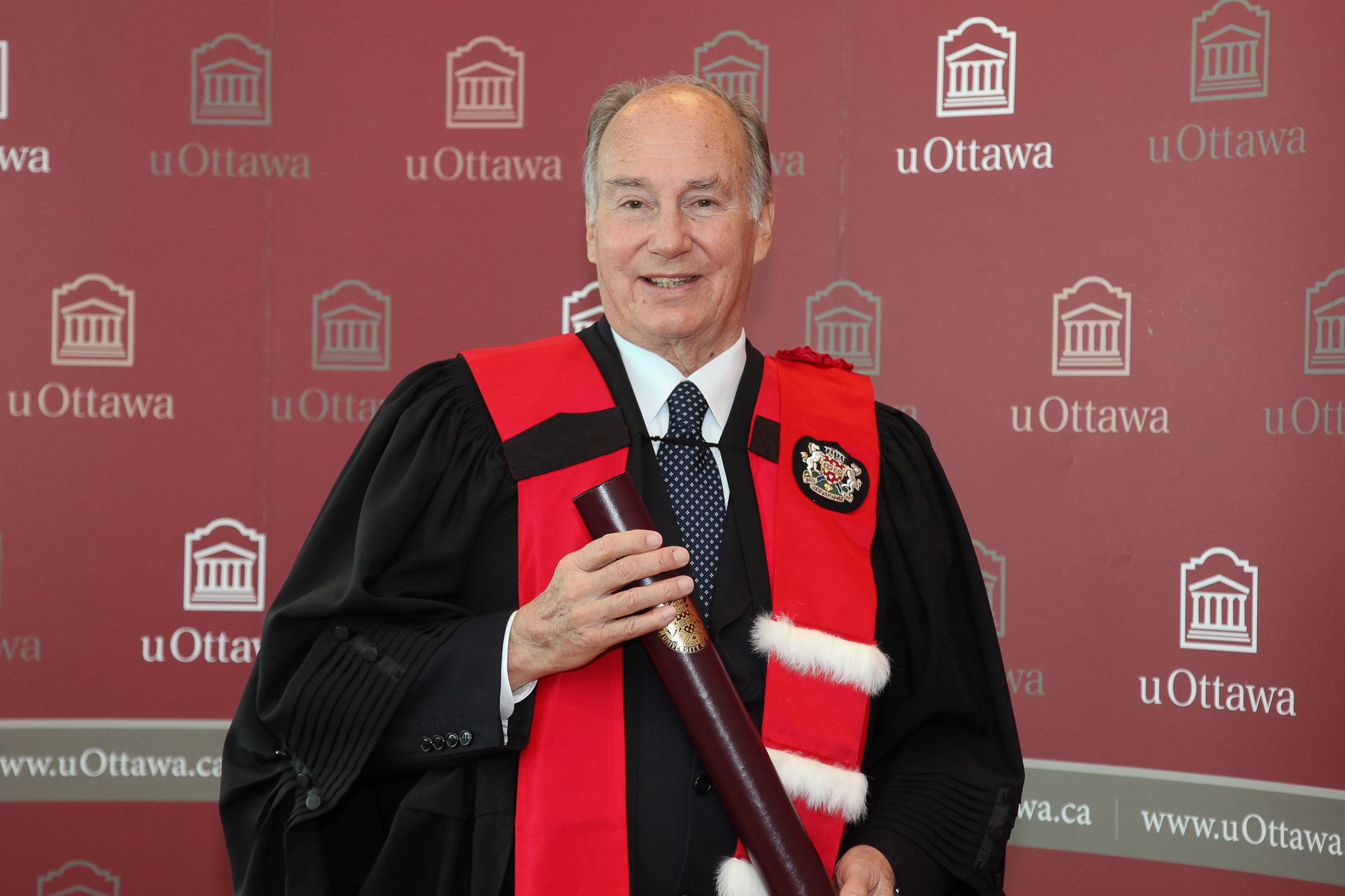 University of Ottawa confers an Honorary Degree on His Highness the Aga Khan