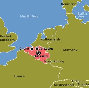 UN Map of Belgium. Country area: 30528 sq. kms; Currency: Euro; Population: 10,647,000; Captal city/Population:Brussels (1,892,000); UN membership: December 27, 1945. Credit: UN data.