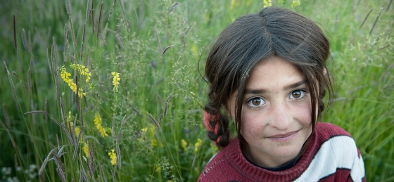 A young Ismaili girl in the grass-fields in the Wakhan corridor on the Tajikistan side. Photo: Olivier Galibert. Copyright. See Link 10 (+1)