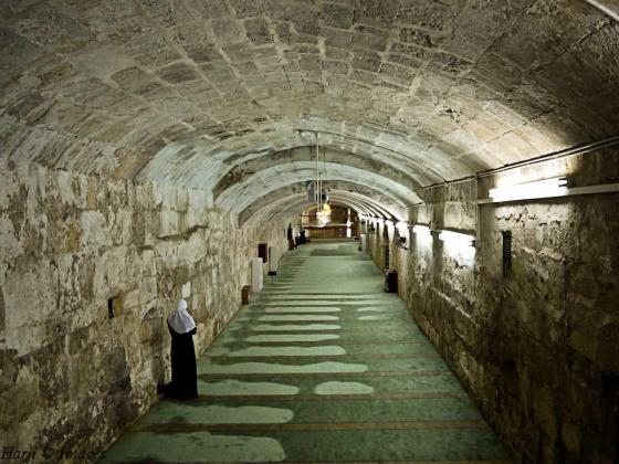 It is believed that Prophet Muhammad (s.a.s.) prayed at this mosque (which is in the basement of present day Al Aqsa Mosque) before he took the night journey to heaven. Photo: Muslim Harji, Montreal, PQ. Copyright.