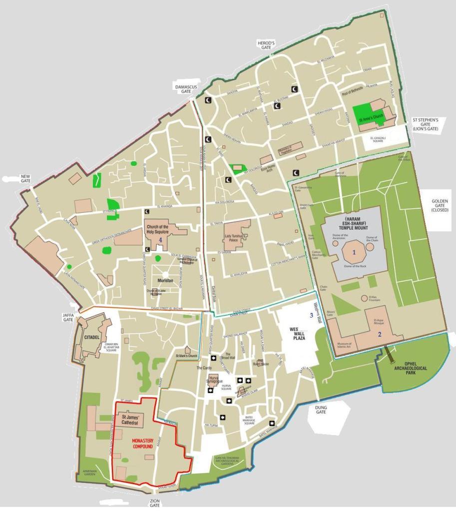 Map of Israel & Neighboring Nations - Israel & bordering ...   Cities Surrounding Jerusalem