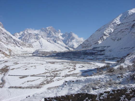 Shimshal valley in winter. Photo: Wikipedia.