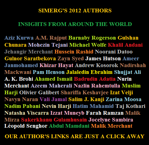 Please click for links to 2012 pieces contributed by authors listed above.
