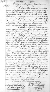 "George Washington's 1785 letter wherein he declared that he would welcome ""Mohometans"" to Mount Vernon if they were ""good workmen. Image credit: Library of Congress. Please click for article"