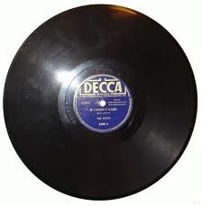 Allidina Jamal's Swahile songs were recorded on Shellac recordes, similar to the one shown above.