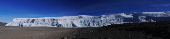 The shrinking ice fields of Mount Kilimanjaro