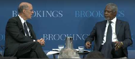 Please click to watch Kofi Annan's presentation  at the Brookings Institution.