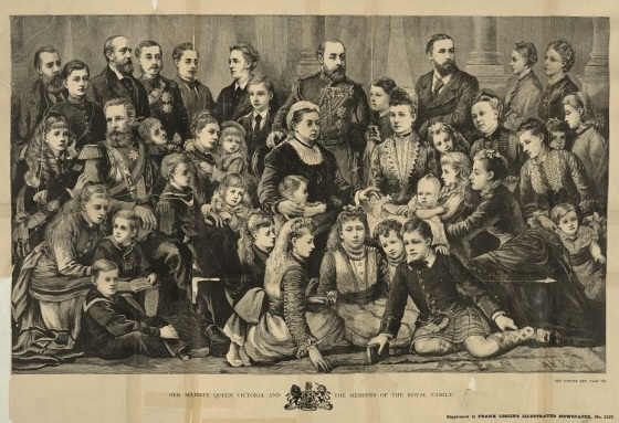 Her majesty Queen Victoria and the members of the royal family / M.W. Ridley.  Date Published: 1877 July 14. US Library of Congress Collection
