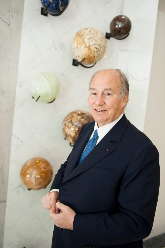 A more recent portrait of Prince Karim Aga Khan, taken on June 22, 2012 in Chantilly, France. Photo by Philippe Petit/Paris Match via Getty Images.