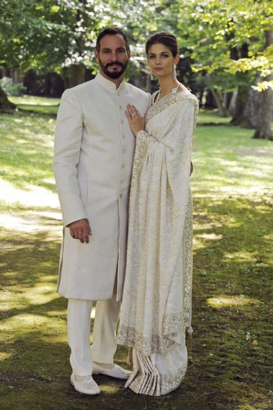 Prince Rahim and Princess Salwa on their wedding day on August 31, 2013. Photo: TheIsmaili / Gary Otte.
