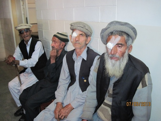 Post of patients following cataract surgery by Dr. Badrudin Kurwa in Chitral, Pakistan. Please click for article.