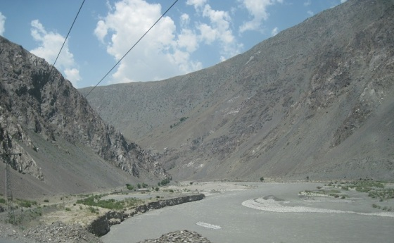 A view of the Chitral River from the car. Photo: Badrudin Kurwa Collection. Copyright.