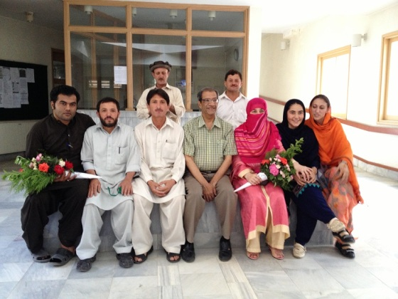 Dr. Badrudin Kurwa with the amazing staff pictured in Shogore, Chitral. Photo: Badrudin Kurwa. Copyright.