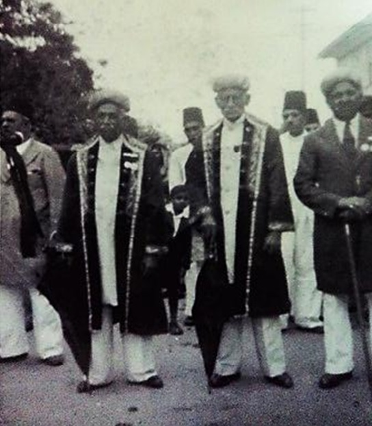 A rare photo of Ismaili leaders