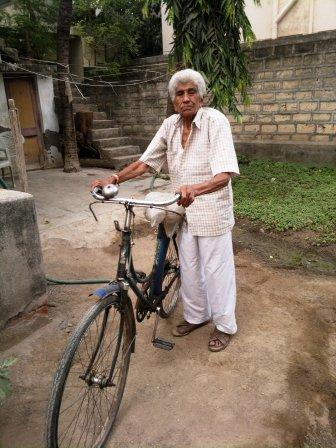 Prized possession - a bicycle on which Gulamhusen takes his produce to the market.