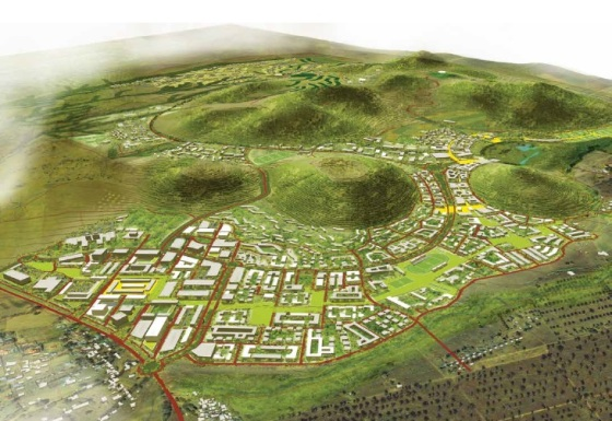 A depiction of the Aga Khan University's future campus in Tanzania. The Arusha campus will not only be comparable to Karachi's campus in size and scope, but it will also be the University's first permanent campus serving students from all across the East African community. Photo: Aga Khan Development Network.