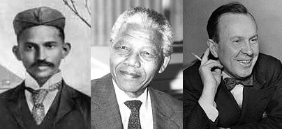 Heroes Gandhi, Mandela, and Pearson