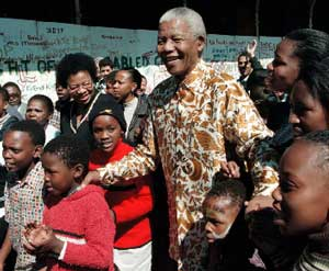 Nelson Mandela with  Graça Machel  created a bold new movement to turn the world around for millions of children. Photo credit: UNICEF