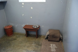 Mandela's cell at Robben Island. Photo: Wikipedia.