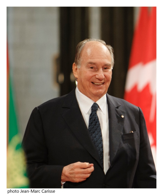 Mawlana Hazar Imam, His Highness the Aga Khan, 49th Imam and the direct descendant of the Prophet Muhammad (s.a.s.), at the Canadian Parliament on Thursday, February 27, 2014. Simerg Exclusive Photo: Copyright Jean-Marc Carisse.