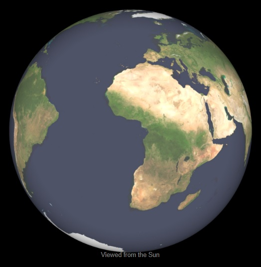 Earth Spherical View 2013-03-21 0012UT. NASA Image. Please click to download Nawruz booklet.