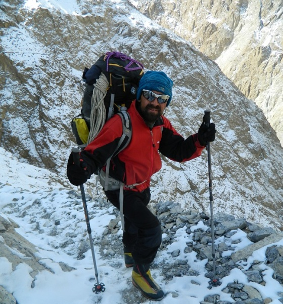 Mirza Ali on Mt. Everest. Photo: Mirza Ali Collection. Copyright.