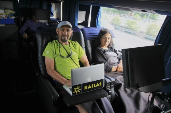 Samina Baig and Mirza Ali experienced some rare moments of luxury as they travelled in this beautiful coach from Mendoza to Buenos Aires during their journey to Argentina to climb Mt. Aconcagua on December 13, 2013. Photo: Samina Baig's Facebook page. Copyright.