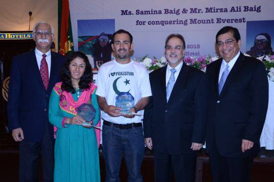 Samina and Mirza Ali recognized by Ismaili leaders in Pakistan.